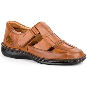 Sapatos Homem Sandálias Cbp - Conbuenpie Sandalia de hombre de piel by Pepe Agullo Marrón
