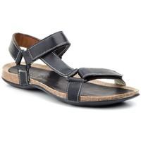 Sapatos Homem Sandálias Pepe Agullo Calzados Sandalia de hombre de piel by Pepe Agullo Negro