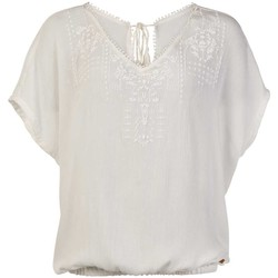 Textil Mulher Tops / Blusas Protest TOP  SEASHELL MUMBY BLOUSE 1615181 BLANCO