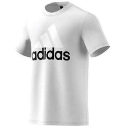 Textil Homem T-Shirt mangas curtas adidas Originals Performance Essentials Linear Tee Branco