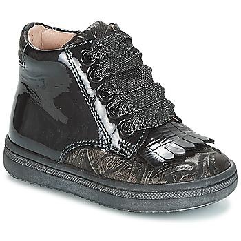 Sapatos Rapariga Sapatilhas de cano-alto Acebo's DOLAGIRI Preto / Prata