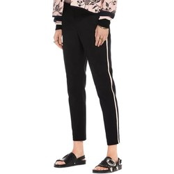 Textil Mulher Calças Maison Scotch TAILORED STRETCH PANTS WITH KNITTED Preto