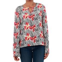 Textil Mulher T-shirt mangas compridas Vero Moda 10191090 VMMOLLY LS TOP TOREADOR Blanco