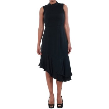 Textil Mulher Vestidos Vero Moda 10193254 VMKYLIE SL FRILL KNEE DRESS BLACK Negro