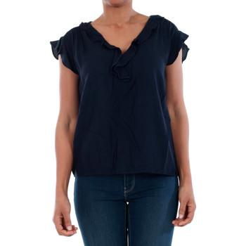 Textil Mulher T-Shirt mangas curtas Vero Moda 10196234 VMSEATTLE FRILL S/S TOP EXP NAVY BLAZER Azul marino
