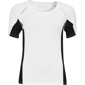 Textil Mulher T-Shirt mangas curtas Sols SYDNEY WOMEN SPORT Blanco