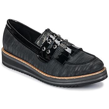 Sapatos Mulher Mocassins Regard RUVOLO V1 ZIP NERO Preto
