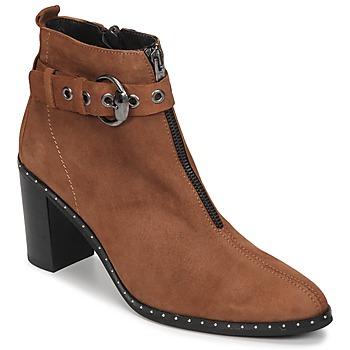 Sapatos Mulher Botins Philippe Morvan AXEL V4 CHEV VEL Camel