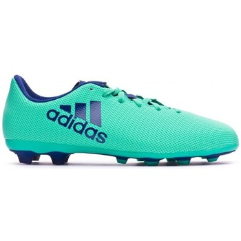 Sapatos Chuteiras adidas Performance X 17.4 FxG Niño Aero green-Unity ink-Hi-res green