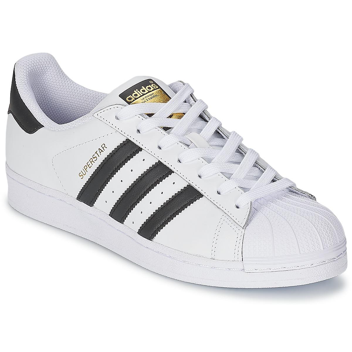 9d97b2425b5 adidas Originals SUPERSTAR Branco   Preto - Entrega gratuita com a  Spartoo.pt ! - Sapatos Sapatilhas 86