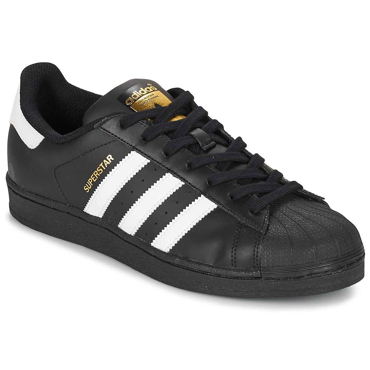85d3fe28d0b adidas Originals SUPERSTAR FOUNDATION Branco   Preto - Entrega gratuita com  a Spartoo.pt ! - Sapatos Sapatilhas 86