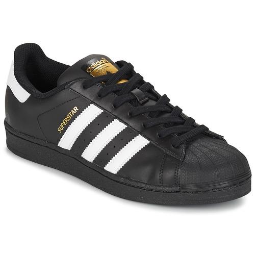 e95e9674b4 Sapatos Sapatilhas adidas Originals SUPERSTAR FOUNDATION Branco / Preto