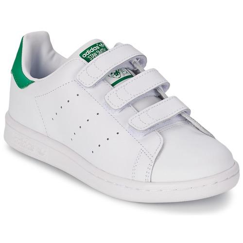 Sapatos Criança Sapatilhas adidas Originals STAN SMITH CF C Branco / Verde