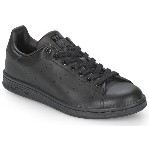 8fc42c41829 adidas Originals STAN SMITH Preto - Entrega gratuita com a Spartoo ...