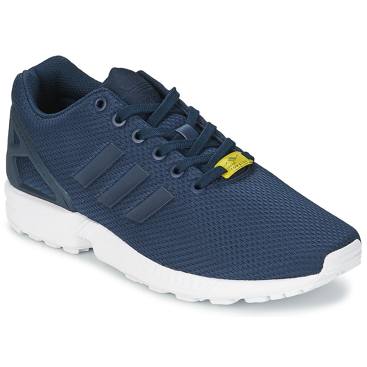 2eb9246c72a adidas Originals ZX FLUX Azul   Branco - Entrega gratuita com a Spartoo.pt  ! - Sapatos Sapatilhas Homem 72