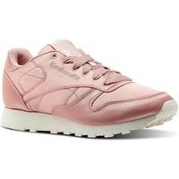 Sapatos Mulher Sapatilhas Reebok Sport CL LTHR SATIN rosa