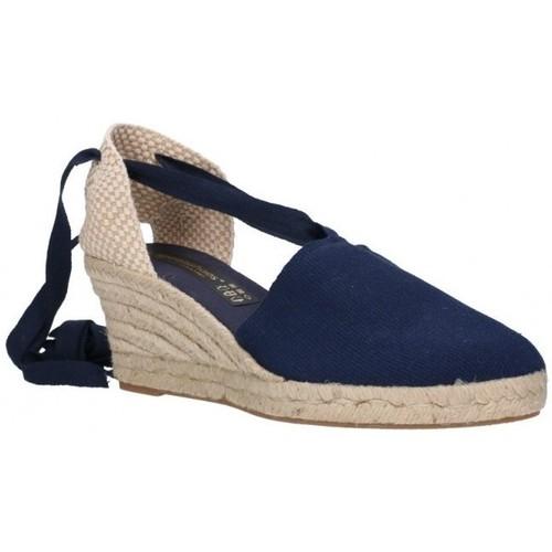 Sapatos Homem Alpargatas Fernandez VALENC. CINTAS Mujer Azul marino bleu