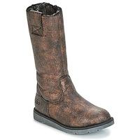 Sapatos Rapariga Botas Mod'8 ALTANA Preto / Bronze
