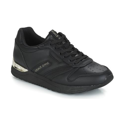 Sapatos Mulher Sapatilhas Versace Jeans Couture TAPADO Preto