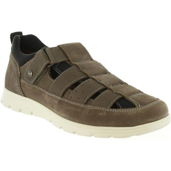 Sapatos Homem Sandálias Panama Jack DONOVAN C4 NOBUCK GRIS Gris
