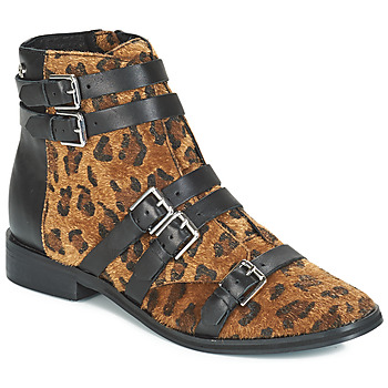 Sapatos Mulher Botins Le Temps des Cerises IZY Leopardo