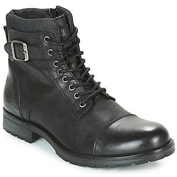 Sapatos Homem Botas baixas Jack & Jones ALBANY LEATHER Preto