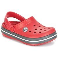 Sapatos Criança Tamancos Crocs CROCBAND CLOG KIDS Vermelho