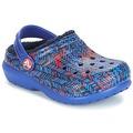 Sapatos Criança Tamancos Crocs CLASSIC LINED GRAPHIC CLOG K Azul