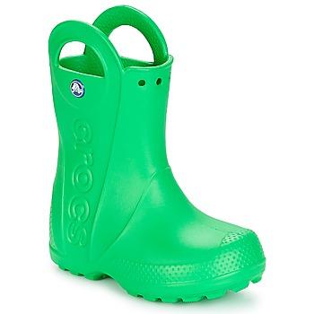 Sapatos Criança Botas de borracha Crocs HANDLE IT RAIN BOOT KIDS Verde