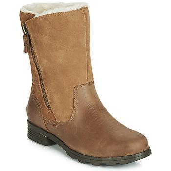 Sapatos Mulher Botas baixas Sorel EMELIE FOLDOVER Camel