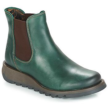 Sapatos Mulher Botas baixas Fly London SALV Petróleo / Verde