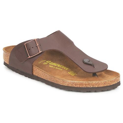 Sapatos Homem Chinelos Birkenstock RAMSES Castanho