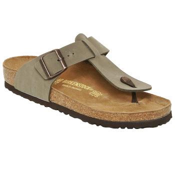 Sapatos Homem Chinelos Birkenstock MEDINA Bege