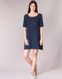 Textil Mulher Vestidos curtos Betty London HOUNI Marinho