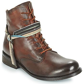Sapatos Mulher Botas baixas Felmini SANTIAGO Castanho