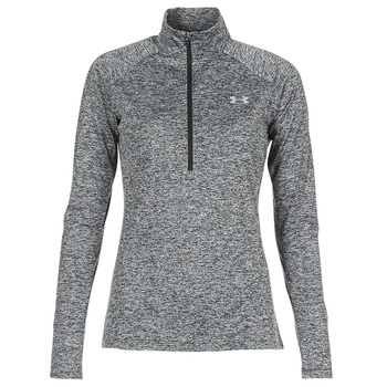 Textil Mulher T-shirt mangas compridas Under Armour TECH 1/2 ZIP TWIST Preto