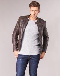 Textil Homem Casacos de couro/imitação couro Oakwood AGENCY Castanho