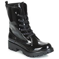 Sapatos Mulher Botas baixas Buffalo SKYLIGHT Preto / Verniz