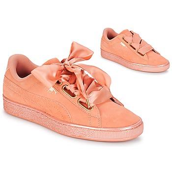 Sapatos Mulher Sapatilhas Puma WN SUEDE HEART SATIN.DUSTY Laranja