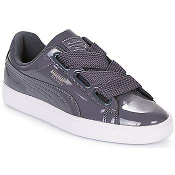Sapatos Mulher Sapatilhas Puma WN BASKET HEART PATENT.IRO Ferro