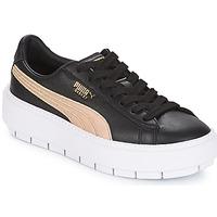 Sapatos Mulher Sapatilhas Puma WN PLATFORM TRACE BSQT.BLK Preto