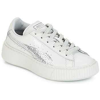 Sapatos Rapariga Sapatilhas Puma G PS B PLATFORM BLING.GRAY Cinza