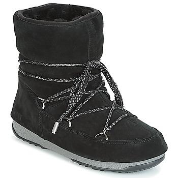 Sapatos Mulher Botas de neve Moon Boot LOW SUEDE WP Preto