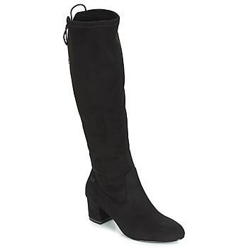 Sapatos Mulher Botas altas Tamaris PEDAS Preto
