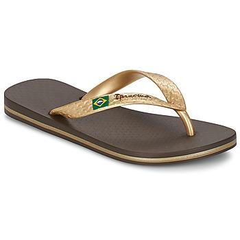 Sapatos Mulher Chinelos Ipanema CLASSICA BRASIL II Castanho / Ouro