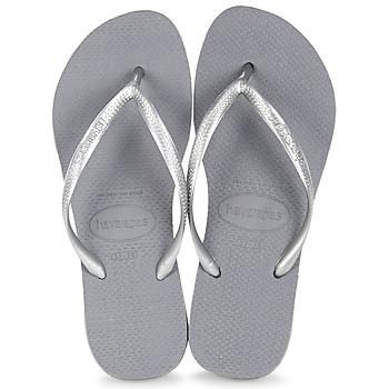 Sapatos Mulher Chinelos Havaianas SLIM Cinza / Aço