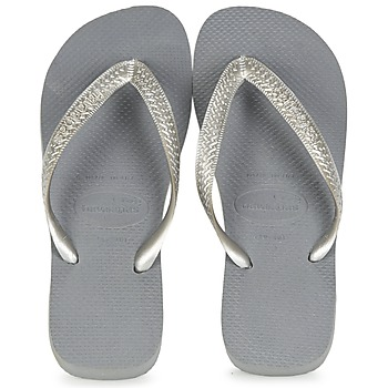 Sapatos Mulher Chinelos Havaianas TOP METALLIC Cinza / Aço