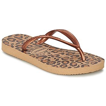 Sapatos Rapariga Chinelos Havaianas SLIM ANIMALS Bronze