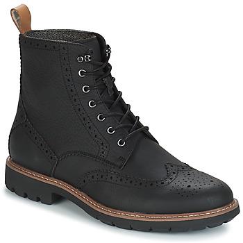 Sapatos Homem Botas baixas Clarks BATCOMBE LORD Preto