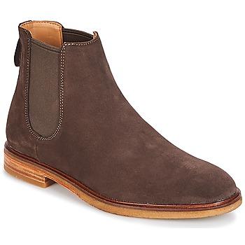 Sapatos Homem Botas baixas Clarks CLARKDALE Escuro / Castanho